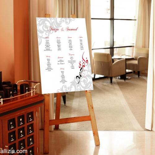 plan de table pour mariage oriental